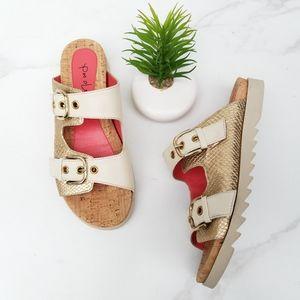 Pas De Rouge Vella Sandal Slides Buckle Straps